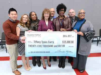Tiffany Tynes Curry check Milken Educators