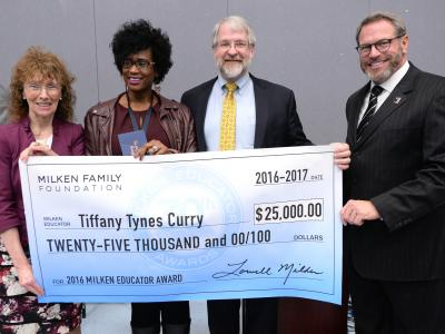 Tiffany Tynes Curry check dignitaries