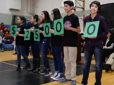 Waldo Middle School students spell 25000