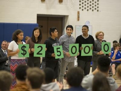 West Hartford 2017 Hall High students spell 25000