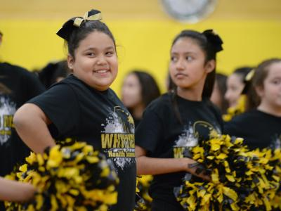 Whittier Middle spirit squad