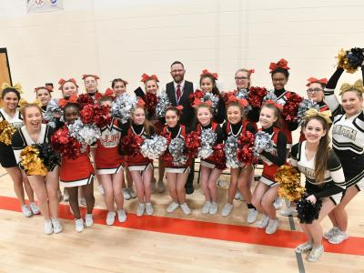 2019 WY Brian Cox cheerleaders after