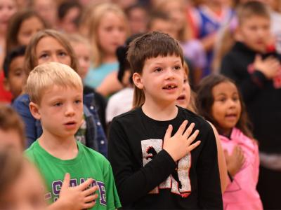 Berryton 2018 pledge of allegiance