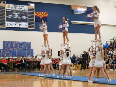 Cienega HS cheerleaders