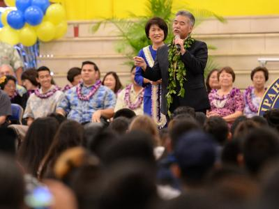 Governor David Ige addresses assembly