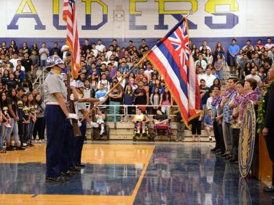 JROTC color guard Waipahu High