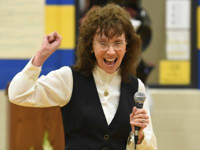 Jane Foley at Saco Middle School