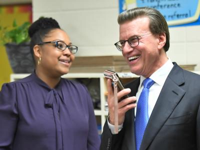 Lafayette 2017 Angela Boxie Lowell Milken call father