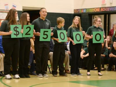 Liberty Point students spell 25000