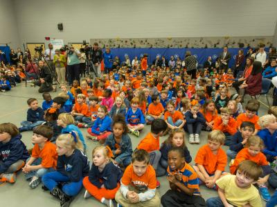 Madison Station students before assembly