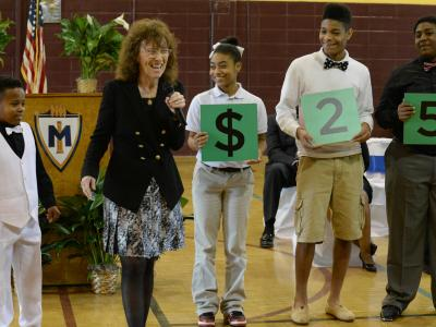 Magnolia Middle School students spell 25000