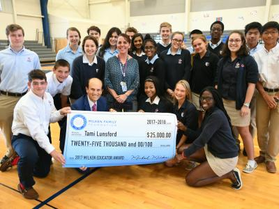 Newark Charter 2017 Tami Lunsford check with students