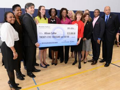 North Star Academy dignitaries and Milken Educators
