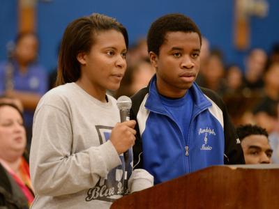 Randolph High School students read poems