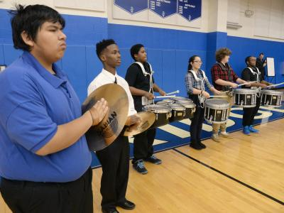 Shortridge HS drum corps