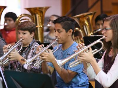 Slaton 2017 school band performs