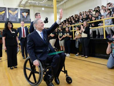 Texas governor Greg Abbott at Whittier Middle