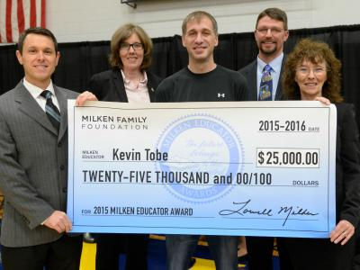 Tobe check with veteran Milken Educators