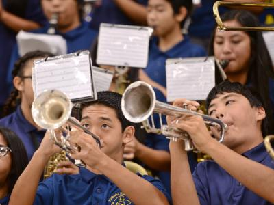 Waipahu High School band