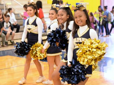 Waipahu High School cheerleaders