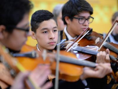 Whittier Middle mariachi violins