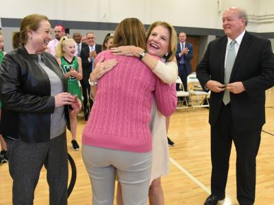 Winfield 2017 Erika Klose Shelley Moore Capito Cathy Justice Steven Paine hug