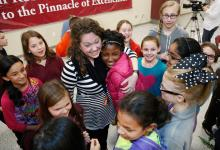 Carman McBride embraces her students