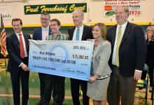 Nick Williams Milken Award check