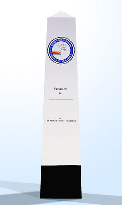 Milken Educator Award Obelisk