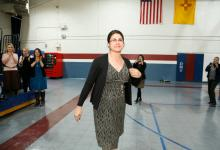 Deming 2017 Melanie Alfaro walks to front